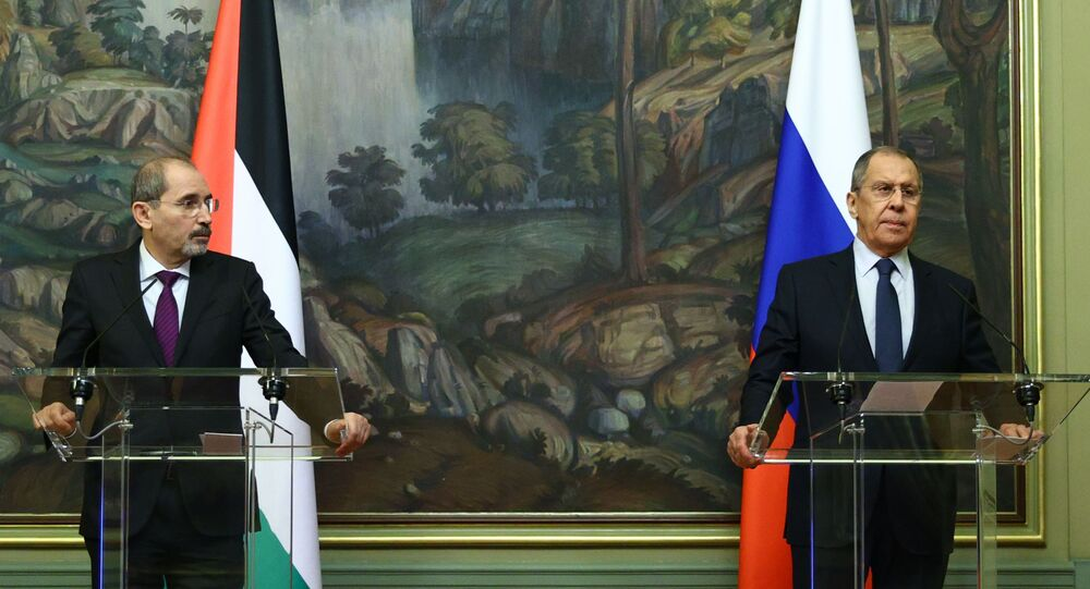 اللقاء الذي جمع وزير الخارجية الروسي، سيرغي لافروف مع نظيره الأردني، أيمن الصفدي يوم 23 أغسطس 2021