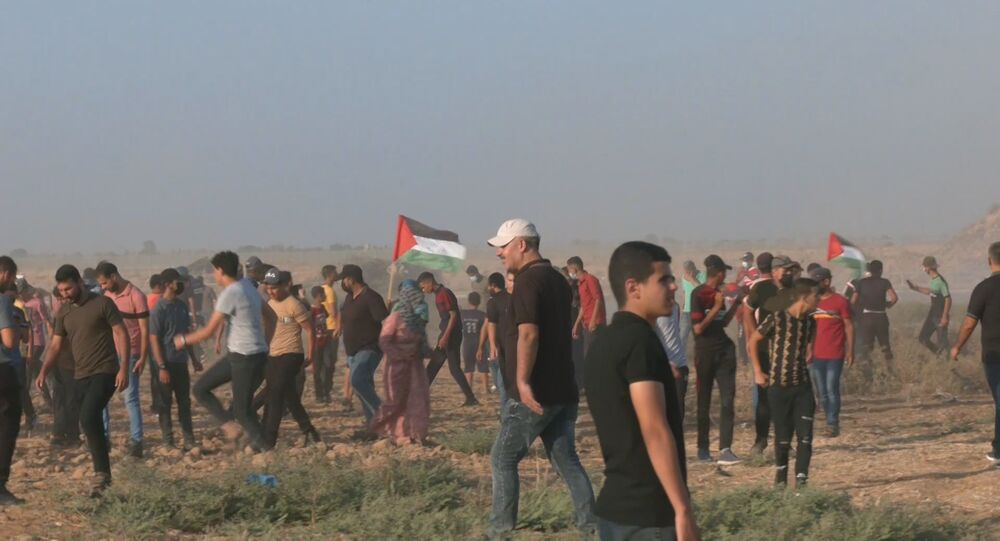 إصابة عشرات الفلسطينيين خلال مظاهرات  في غزة