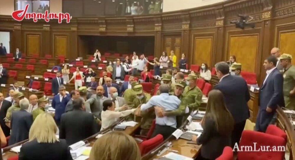 شجار في برلمان أرمينيا