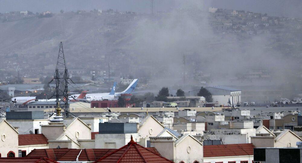 انفجار ارهابي في مطار حامد كرزاي الدولي في كابول، أفغانستان 26 أغسطس 2021