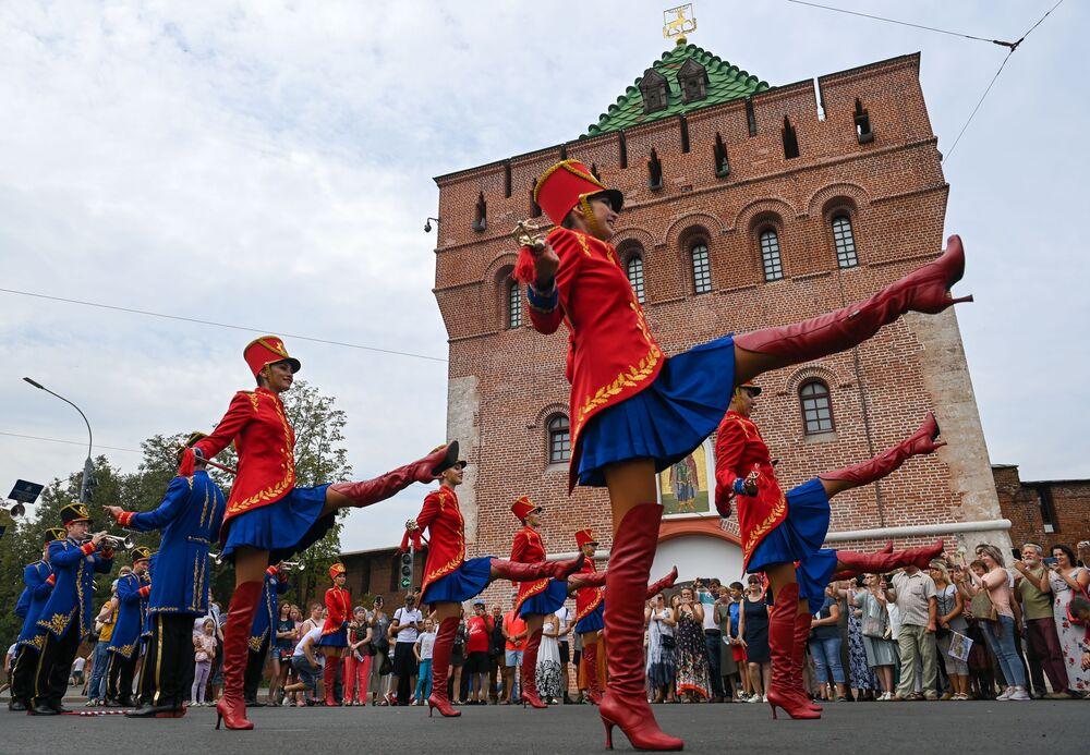 مهرجان الأوركسترا كجزء من الاحتفال بالذكرى 800 لتأسيس مدينة نيجني نوفغورود، روسيا 21 أغسطس 2021