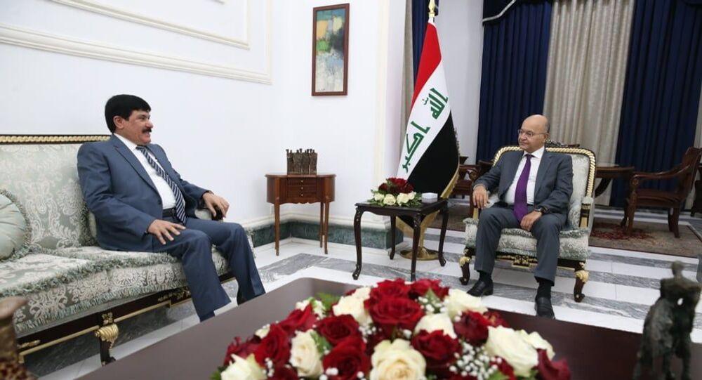 الرئيس العراقي برهم صالح يستقبل السفير السوري لدى بغداد سطام جدعان الدندح