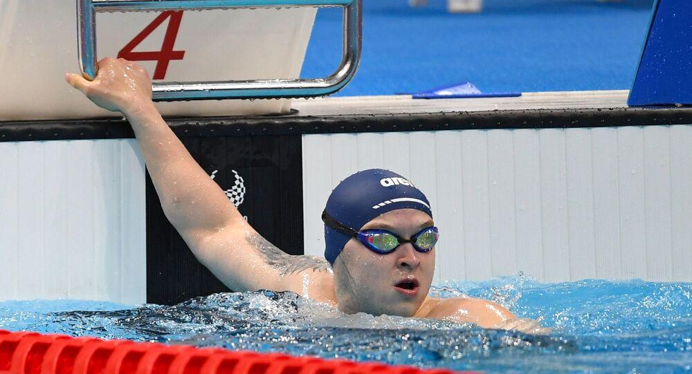السباح الروسي دميتري تشيرنيايف الحاصل على ذهبية الأولمبيات البرالمبية في طوكيو 2021