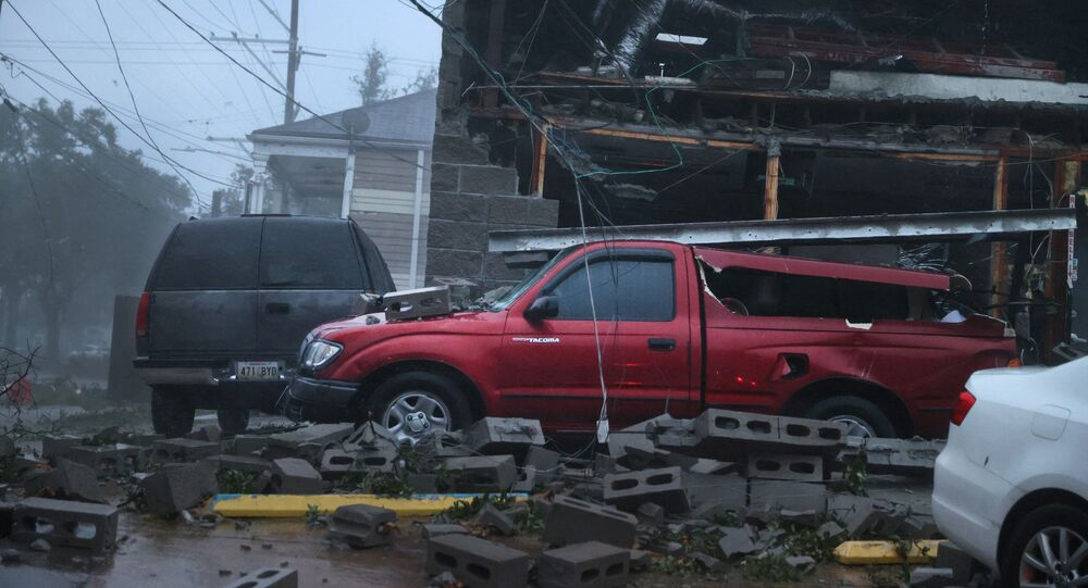 تداعيات إعصار هائل ضرب ولاية لوزيانا الأمريكية، الولايات المتحدة 29 أغسطس 2021