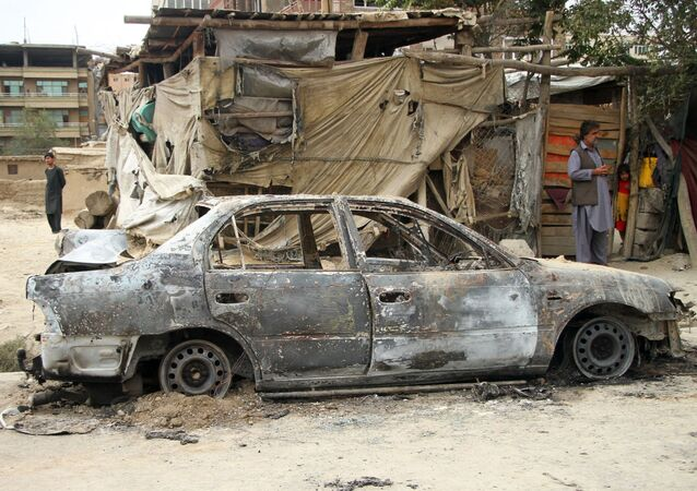 تداعيات القصف الصاروخي في مدينة كابول، أفغانستان 30 أغسطس 2021