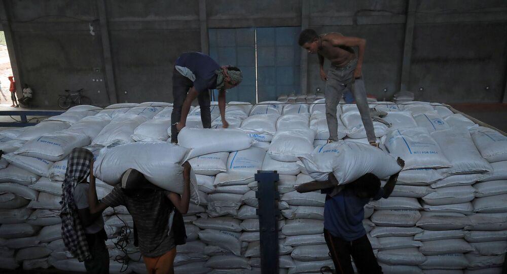 مساعدات غذائية لضحايا الحرب في تيغراي