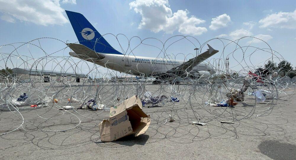 مطار حامد كرزاي الدولي في كابول، أفغانستان 31 أغسطس 2021