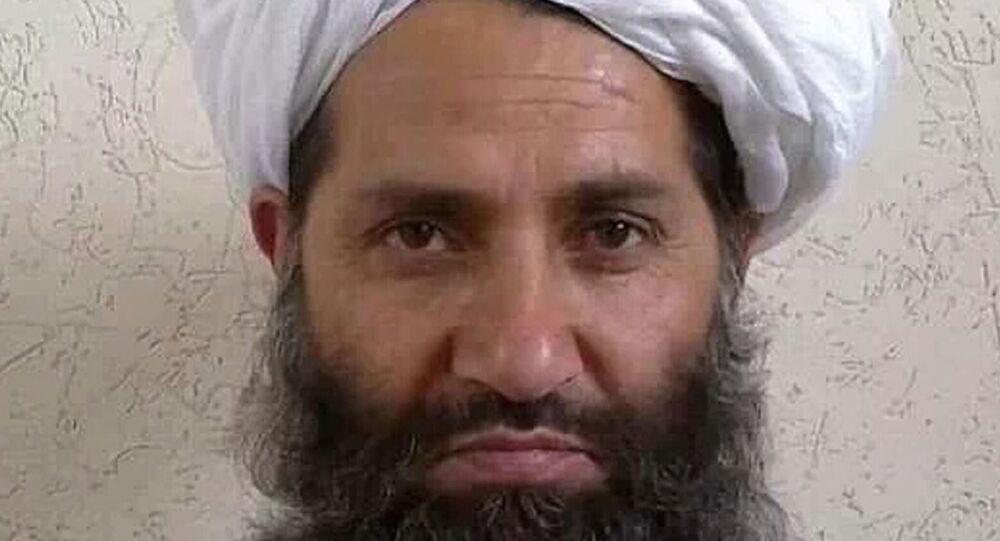 صورة غير مؤرخة نشرتها طالبان لزعيمها الأعلى   هبة الله آخوند زاده