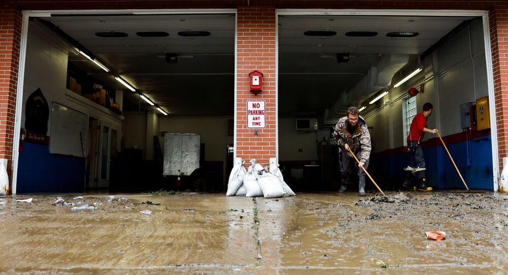 إعصار إيدا في ولاية لوزيانا، الولايات المتحدة 1 سبتمبر 2021