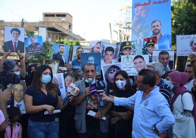 أهالي ضحايا إنفجار مرفأ بيروت  قضيتنا قضية دم... ستكون لنا تحركات موجعة