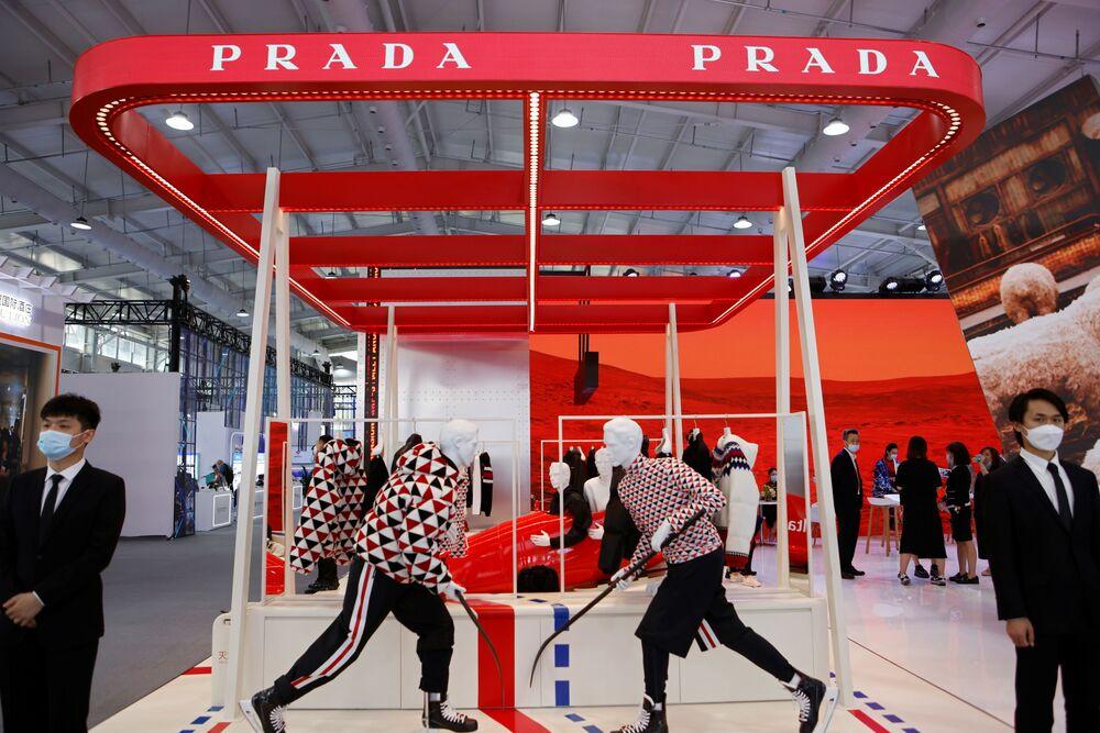 جناح Prada المهرجان الاقتصادي الصيني الدولي CIFTIS 2021 في بكين، الصين 3 سبتمبر 2021