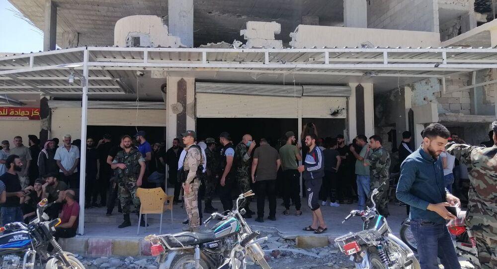 مسلحو درعا البلد يستأنفون تسليم أسلحتهم المتوسطة والخفيفة للسلطات السورية، 6 سبتمبر 2021