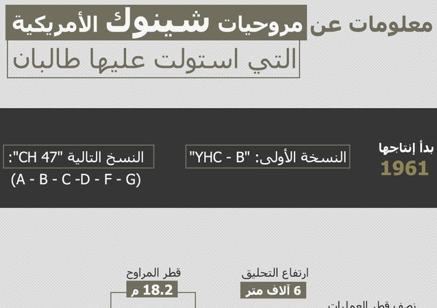 معلومات عن مروحيات شينوك الأمريكية التي استولت عليها طالبان
