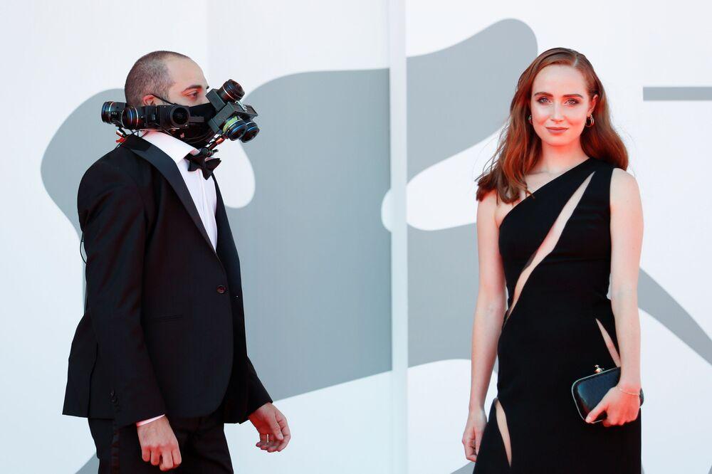 ضيوف مهرجان البندقية السينمائي في دورته الـ 78، فينيسيا (البندقية) إيطاليا 3 سبتمبر 2021
