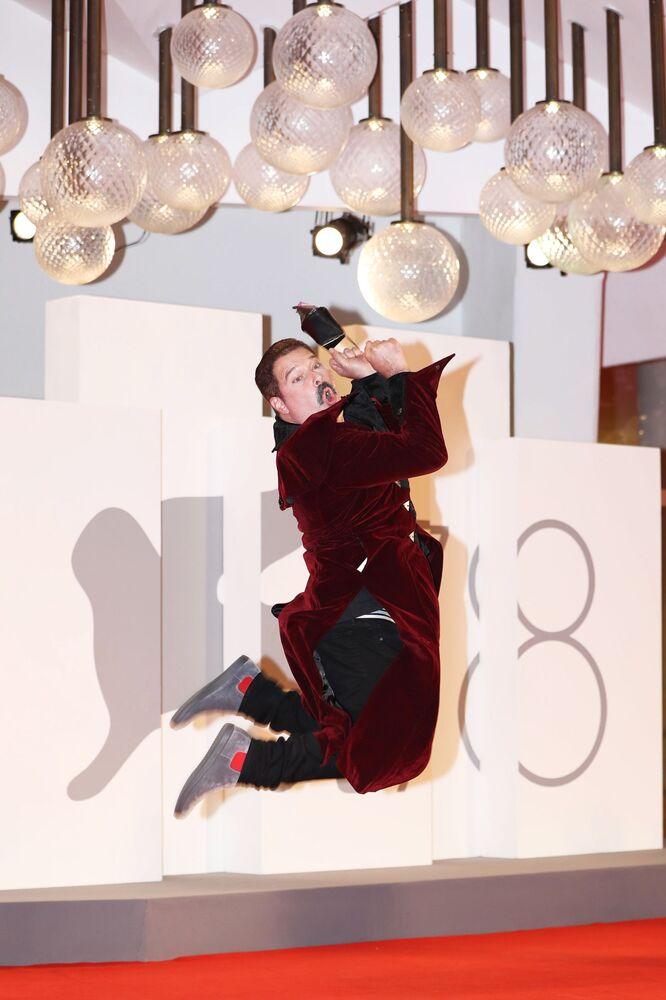 الممثل جويل مايكلي في مهرجان البندقية السينمائي في دورته الـ 78، فينيسيا (البندقية) إيطاليا 3 سبتمبر 2021