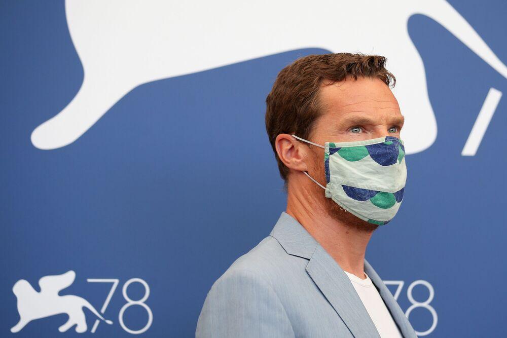 الممثل بينيديكت كامبرباتش في مهرجان البندقية السينمائي في دورته الـ 78، فينيسيا (البندقية) إيطاليا 2 سبتمبر 2021