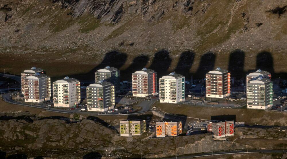 منازل في العاصمة نوك، غرينلاند، 4 سبتمبر 2021