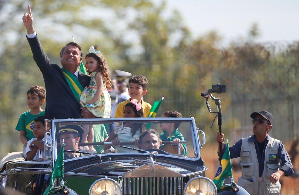 رئيس البرازيل جايير بولسونارو يحضر احتفال يوم الاستقلال في برازيليا، البرازيل، 7 سبتمبر 2021