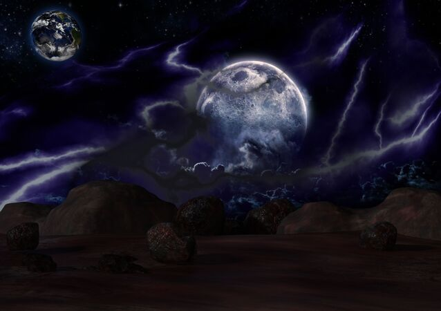 مشهد خيالي لكواكب المجموعة الشمسية