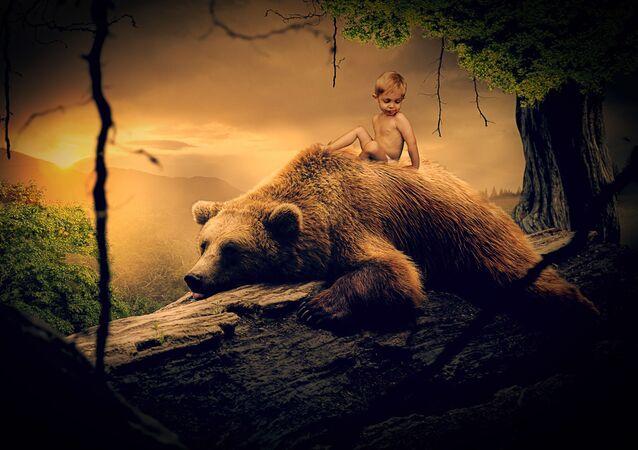 صورة خيالية لفتى الأدغال