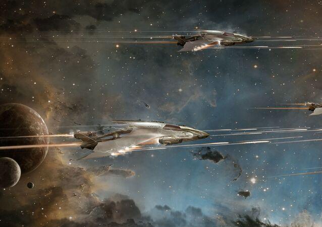 حرب خيالية وسفن فضائية مستقبلية