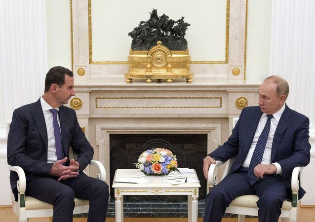 بوتين والأسد يلتقيان في الكرملين