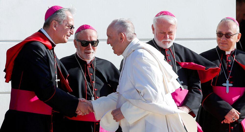 بابا فرانسيسك، بابا الفاتيكان، في سلوفاكيا، 13 سبتمبر 2021
