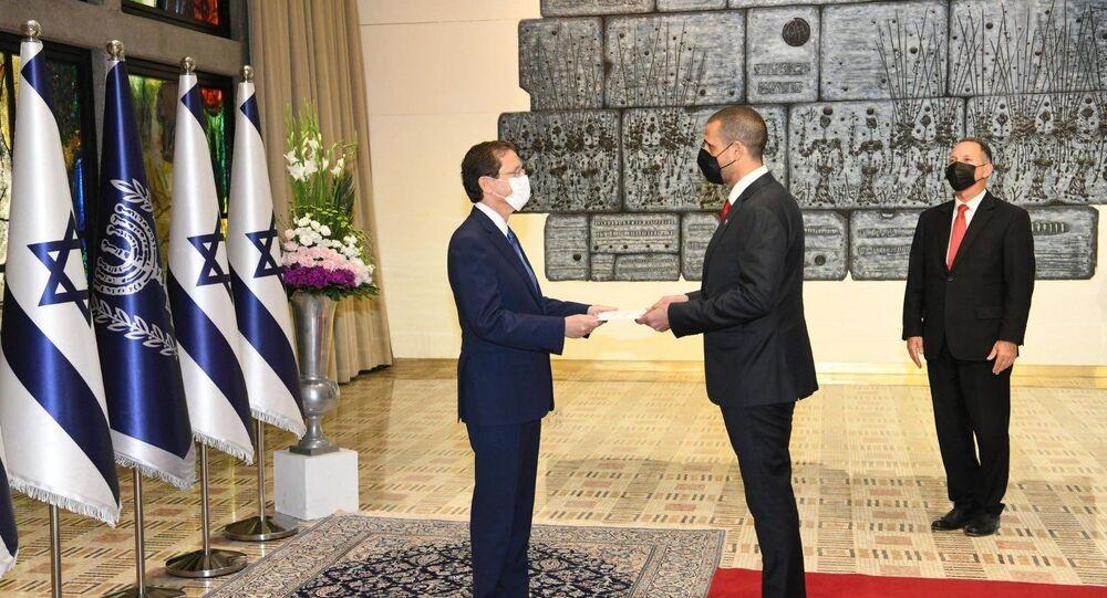 السفير البحريني يقدم أوراق اعتماده في إسرائيل