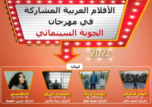 الأفلام العربية المشاركة في مهرجان الجونة السينمائي 2021