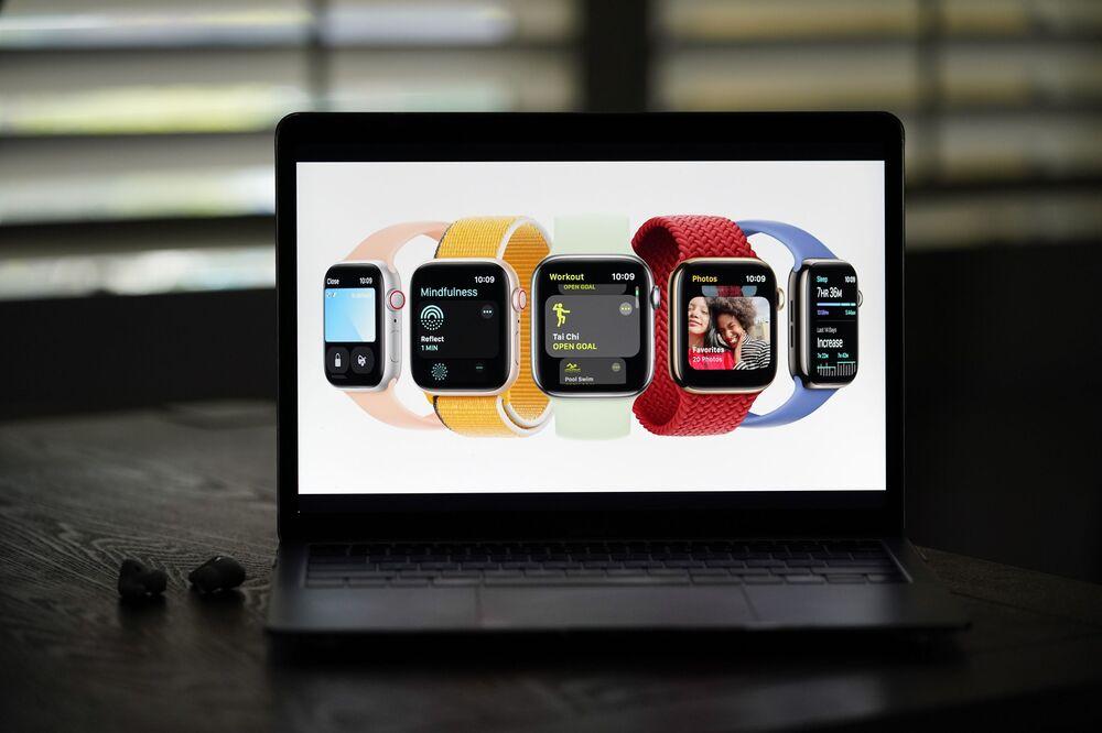 عرض ساعة أبل الجديدة (Apple Watch Series 7) في أبل بارك في كوبيرتينو، كاليفورنيا، 14 سبتمبر 2021