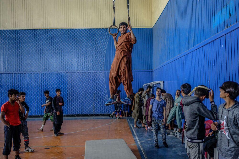 صالة رياضية في كابول، أفغانستان 14 سبتمبر 2021
