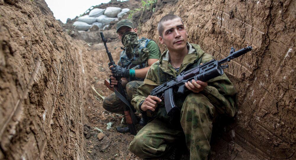 مقاتل من قوات جمهورية دونيتسك