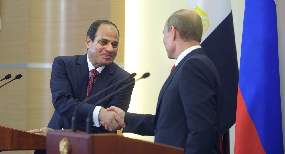 الرئيس فلاديمير بوتين وعبدالفتاح السيسي