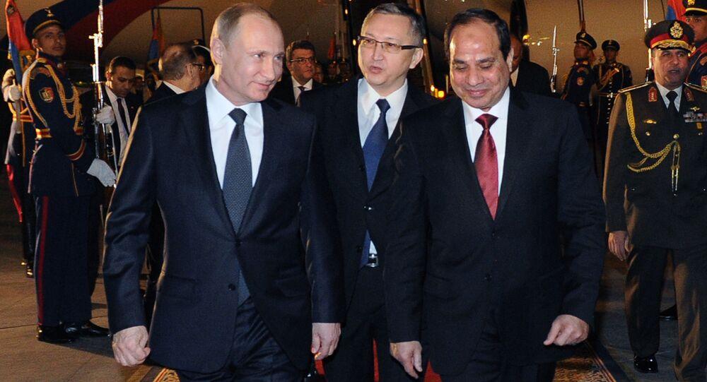 وصول بوتين إلى مصر