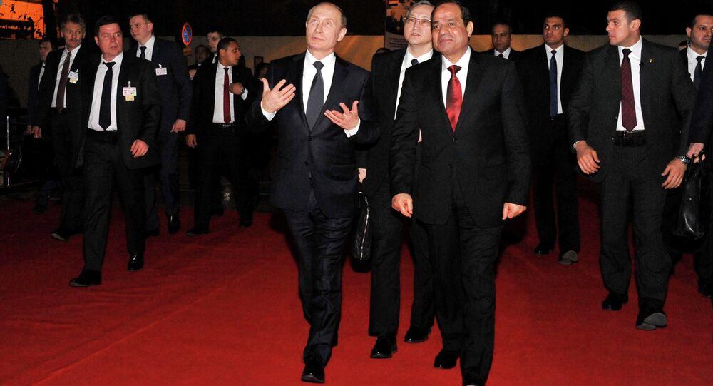 فلادمير بوتين وعبد الفتاح السيسي