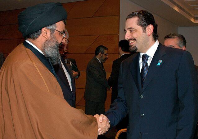 حسن نصر الله وسعد الحريري