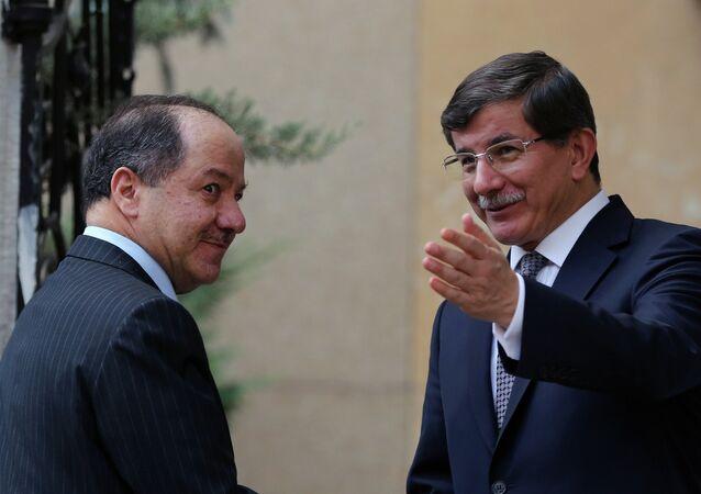 مسعود بارزاني وأحمد داود أوغلو