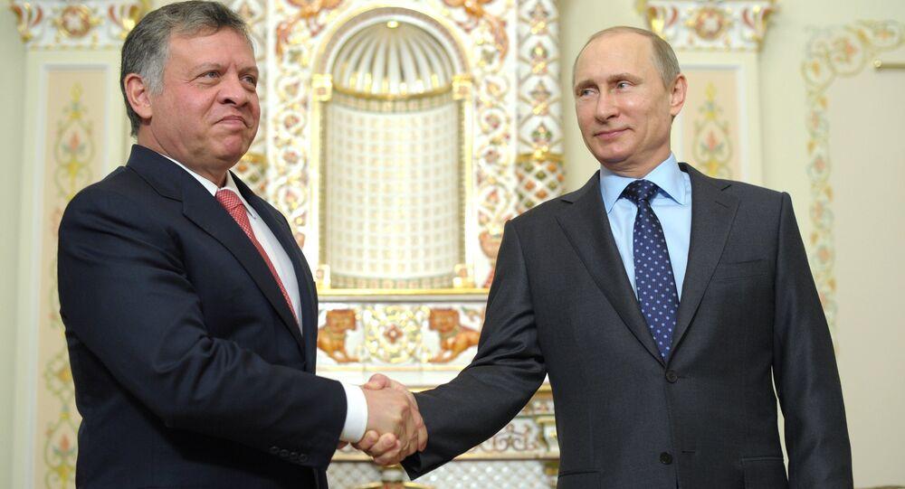 الرئيس الروسي فلاديمير بوتين مع العاهل الأردني الملك عبد ألله الثاني