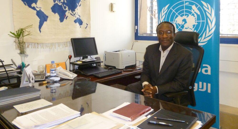 مدير شؤون وكالة الأمم المتحدة لغوث وتشغيل اللاجئين الفلسطينيين الأونروا في سورية، مايكل كينجسلي نيناه