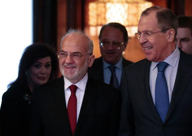 سيرغي لافروف وإبراهيم الجعفري