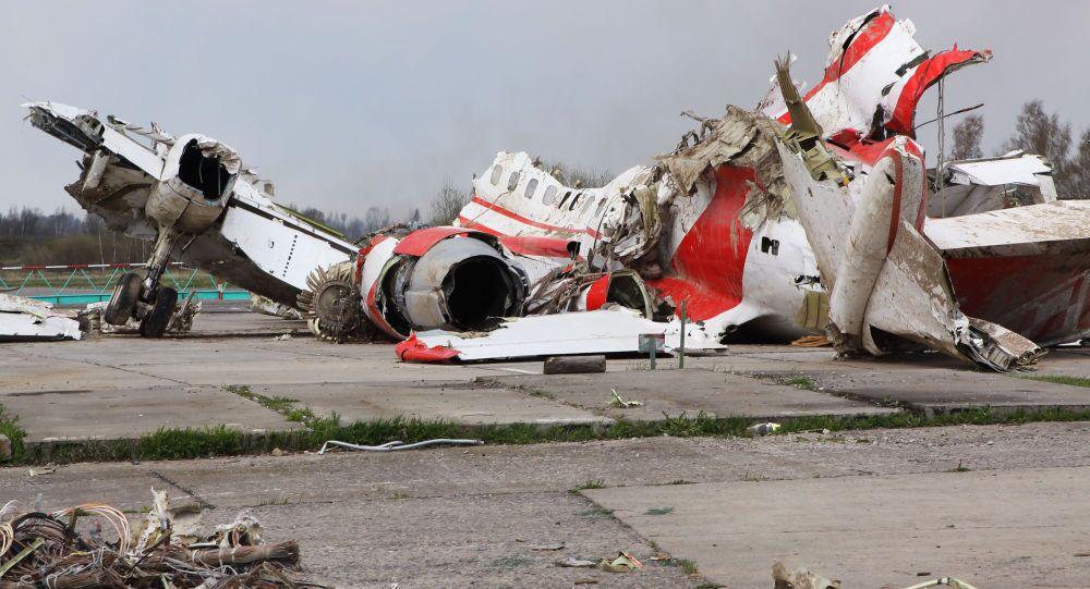 حطام طائرة الرئيس البولندي ليخ كاتشينسكي