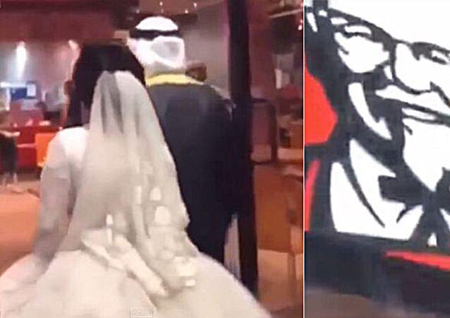 خليجي يزف عروسته في كنتاكي