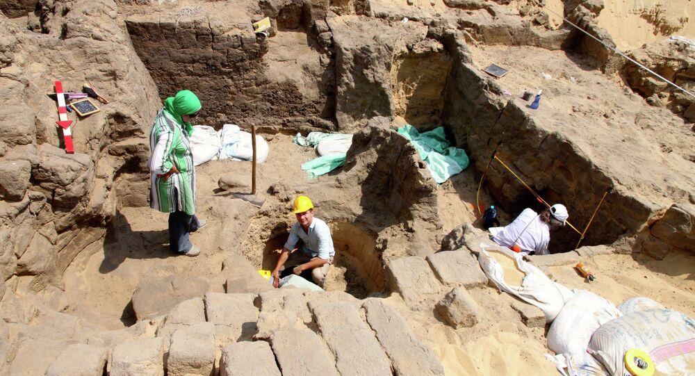 اكتشاف مقبرة فرعونية في وسط دلتا مصر