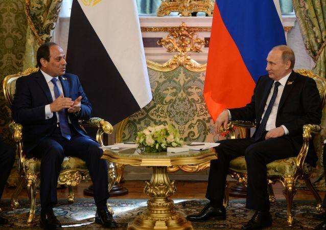 الرئيس المصري عبد الفتاح السيسي والرئيس الروسي فلاديمير بوتين