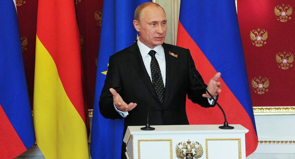 مؤتمر صحفي للرئيس فلاديمير بوتين وأنجيلا ميركل