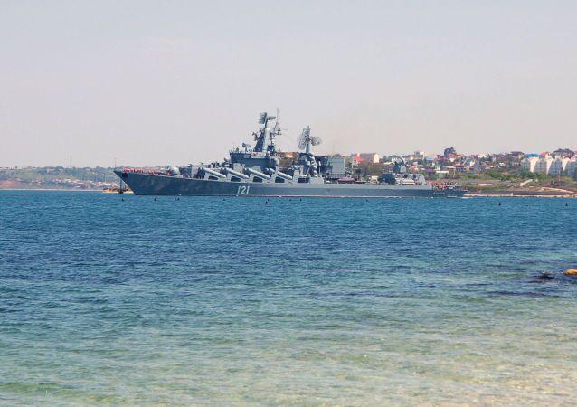 الطراد الصاروخي موسكو يتوجه إلى البحر المتوسط