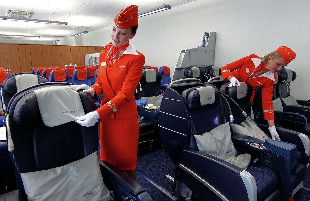 طالبات مدرسة الطيران الروسية إيرو فلوت