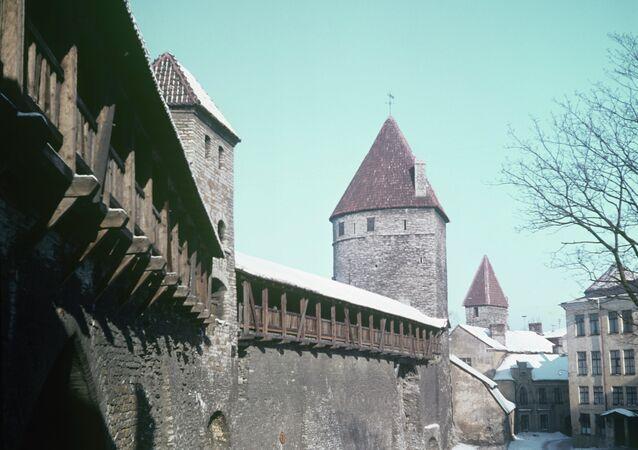 فيشغورود البلدة القديمة بمدينة تالين عاصمة أستونيا