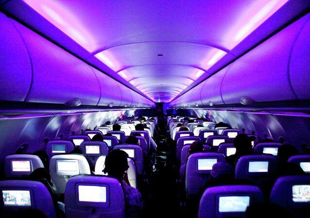 متن طائرة تابعة ليونايتد آيرلاينز