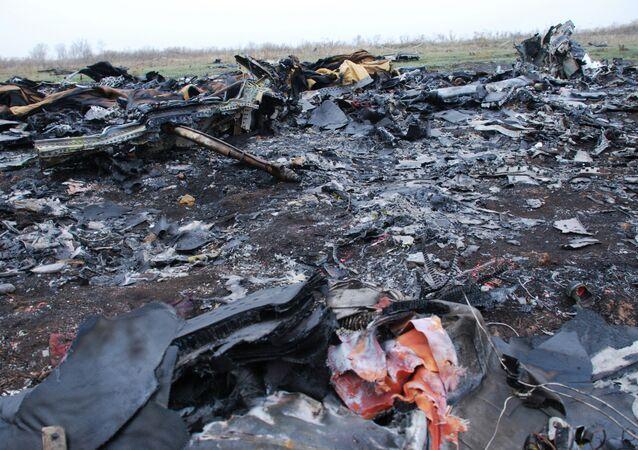 مكان سقوط حطام الطائرة الماليزية